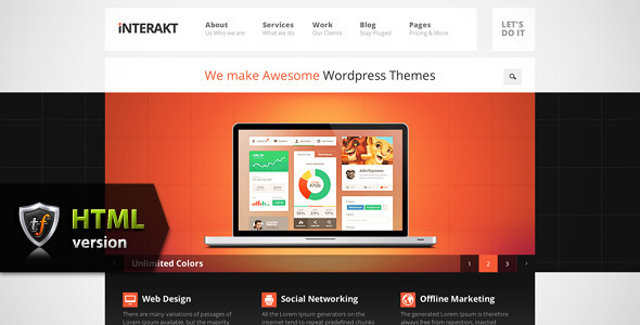 Interakt Agency - Responsive HTML Theme - Business Corporate