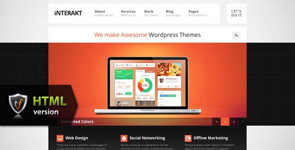 ThemeForest Interakt Agency Responsive HTML Theme 4212973