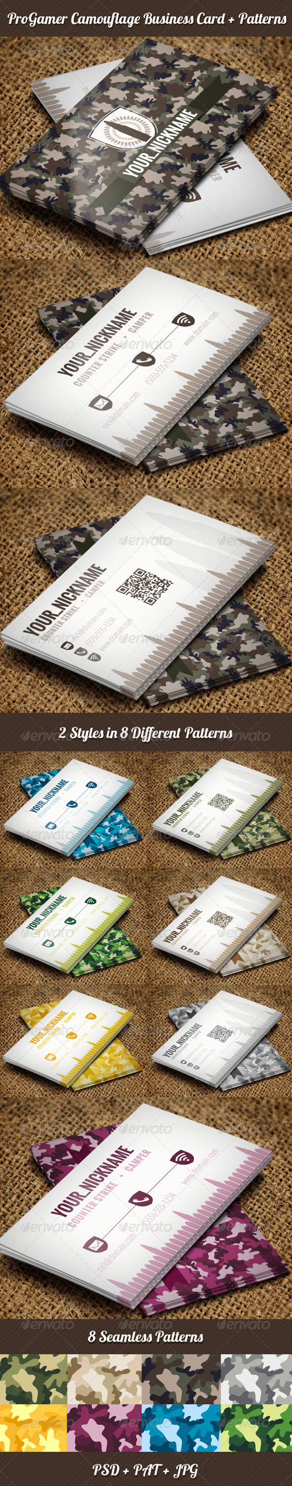 GraphicRiver Gamer Business Cards 3953004