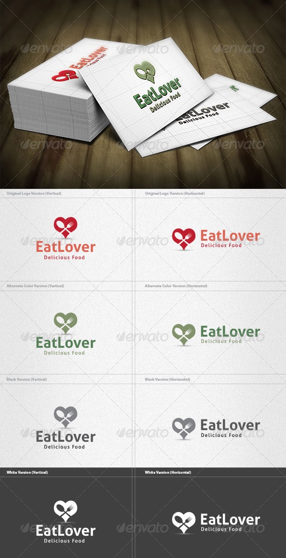 GraphicRiver Eat Lover Logo 4212987