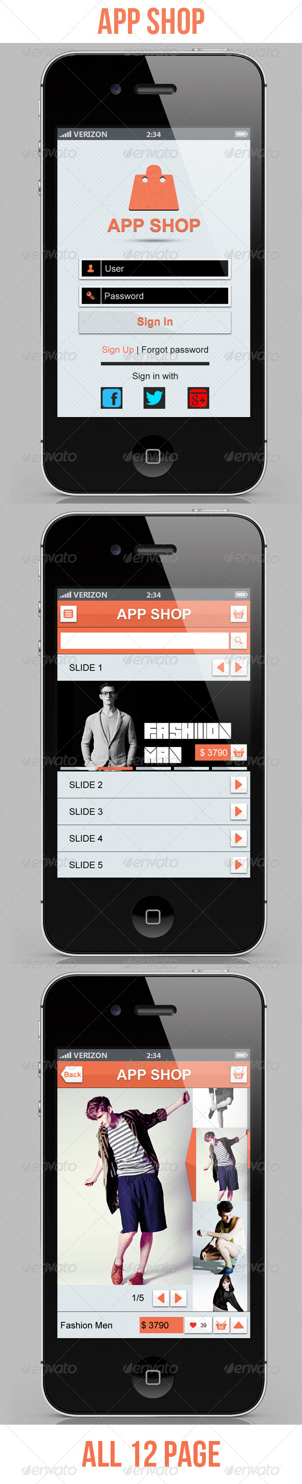 GraphicRiver App Shopping E Commerce 4045833