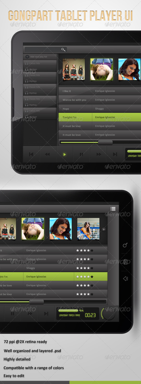 GraphicRiver Gongpart Tablet Player UI 4213463