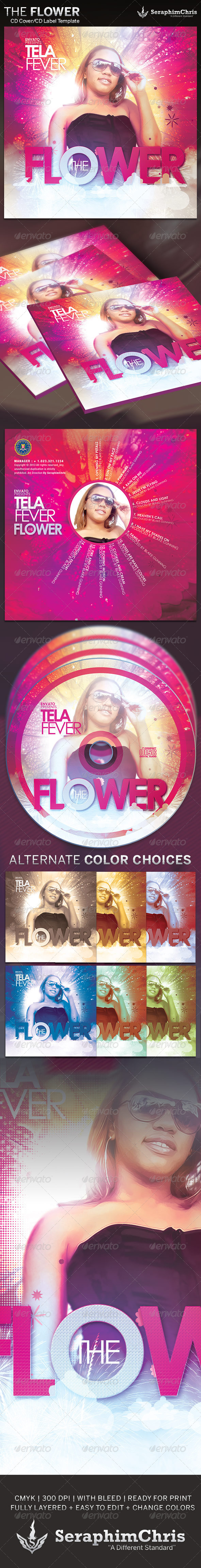 GraphicRiver The Flower CD Cover Artwork Template 4213477