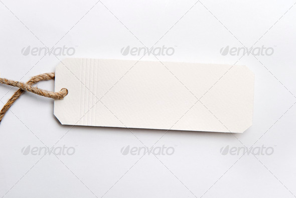 PhotoDune White tag with hemp 4213516