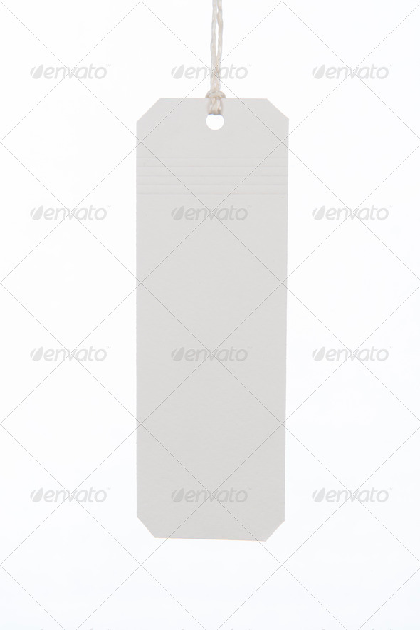 PhotoDune White tag with string 4213517