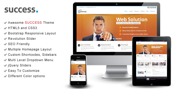 Success – Bootstrap Responsive HTML Template