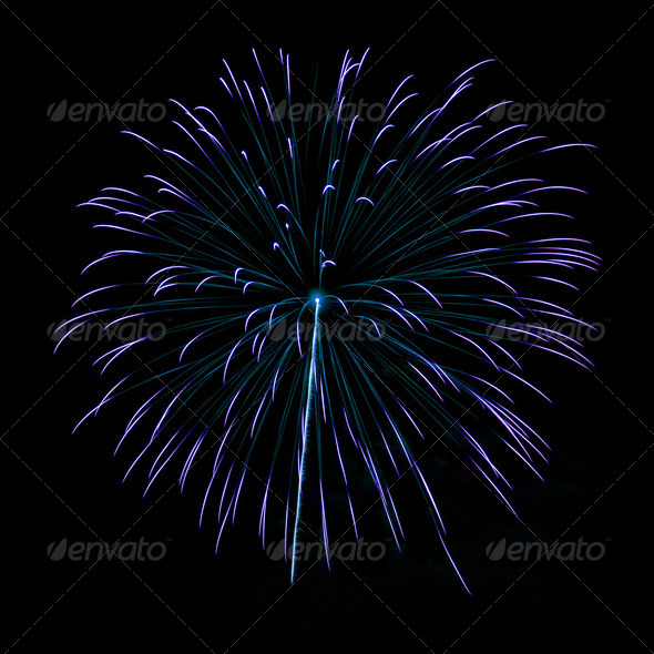 PhotoDune Brightly colorful fireworks in the night sky 4213845