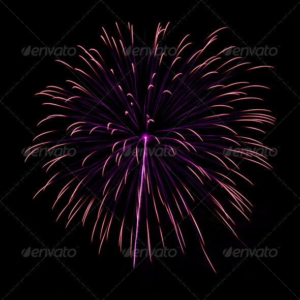 PhotoDune Brightly colorful fireworks in the night sky 4213854