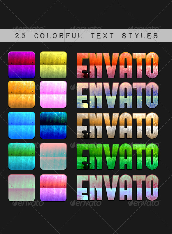 GraphicRiver Colorful Text Styles 4214011