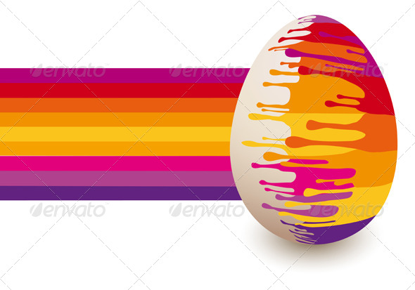 GraphicRiver Colorful Abstract Easter Egg Vector 4214377