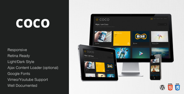 ThemeForest Coco Clean & Minimal Portfolio Blog Theme WP 4174310