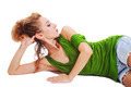 Young beautiful woman lying on the floor - PhotoDune Item for Sale