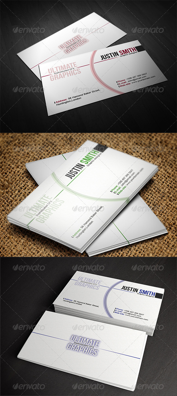 GraphicRiver Clear variety business card 4215488