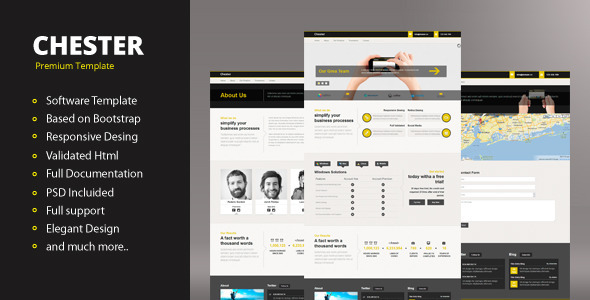ThemeForest Chester Responsive Template 4215590