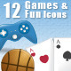 12 Games & Fun Icons