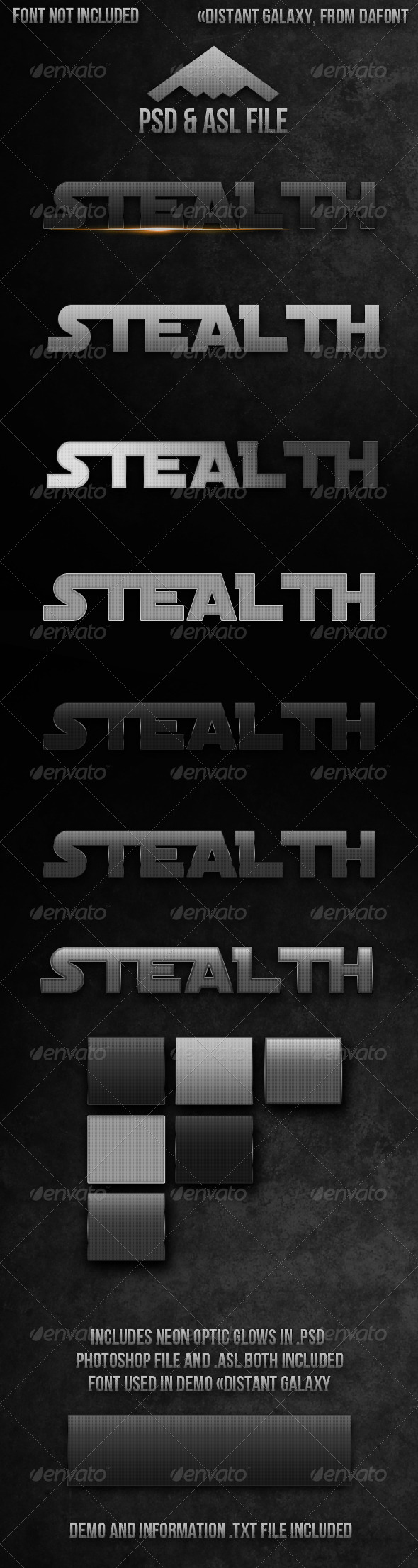 GraphicRiver 7 Stealth Metal Styles 4215804