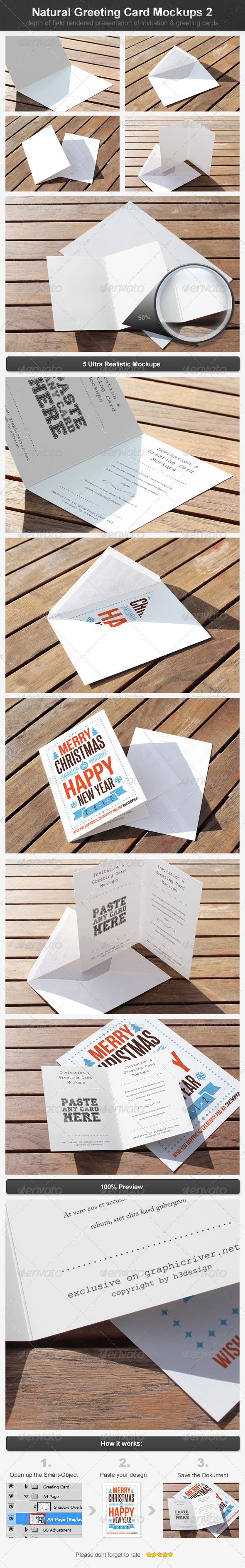 GraphicRiver Natural Greeting Card Mockups 2 4216178