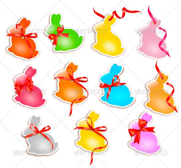 GraphicRiver Decorative Easter Rabbits 4216202
