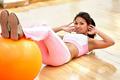 girl doing pilates at the gym