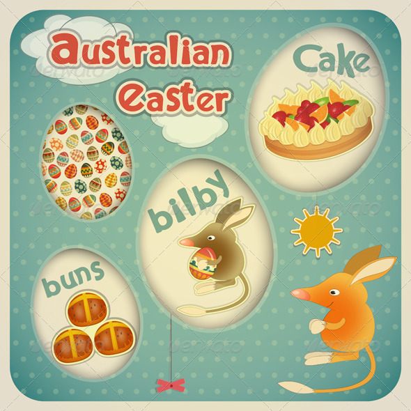 GraphicRiver Easter Australian Card 4217090