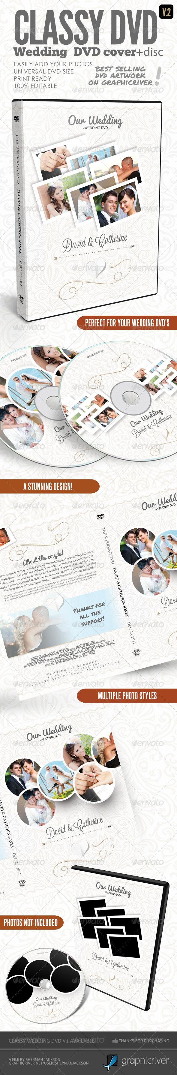 GraphicRiver Classy Wedding DVD Covers V.2 4217471