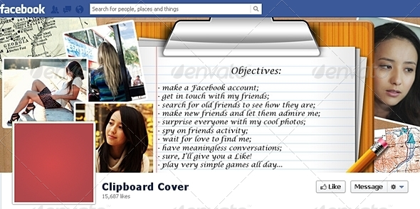 GraphicRiver Clipboard Facebook Timeline Cover 4127011