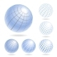 Abstract Globe Icons Set - GraphicRiver Item for Sale
