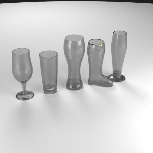 5 Beer Glass Set - 3DOcean Item for Sale