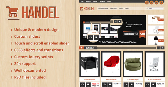 Handel - Unique & Modern OpenCart Template