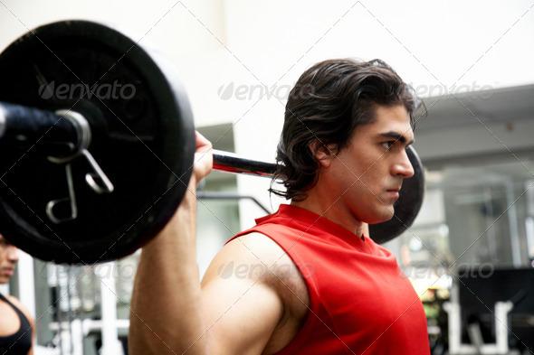 PhotoDune man lifting weights 457057