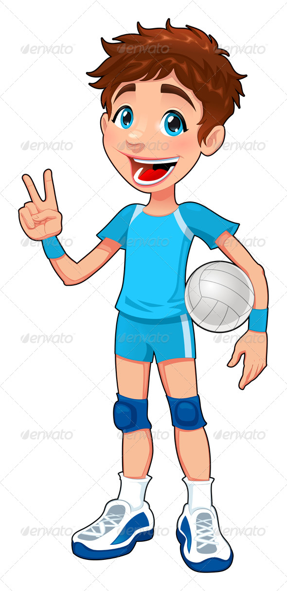GraphicRiver Young Volleyball Player 4218836