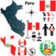 Map of Peru - GraphicRiver Item for Sale