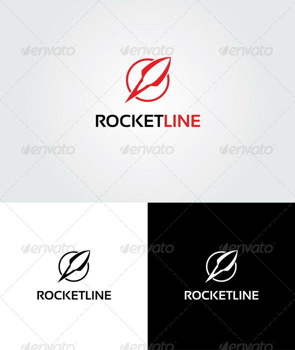 GraphicRiver Rocket Line Logo 4219029