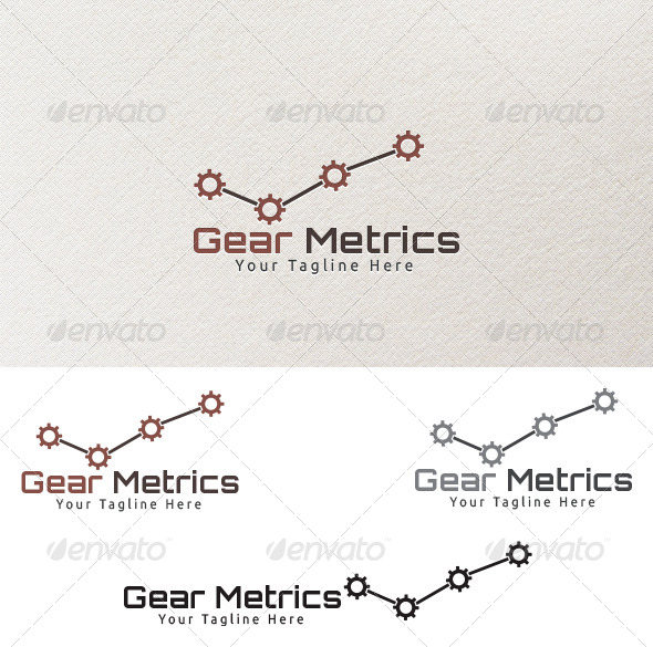 GraphicRiver Gear Metrics Logo Template 4127177