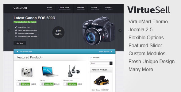 VirtueSell Joomla VirtueMart Template - Retail Joomla