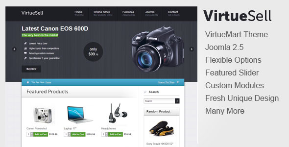 VirtueSell Joomla VirtueMart Template
