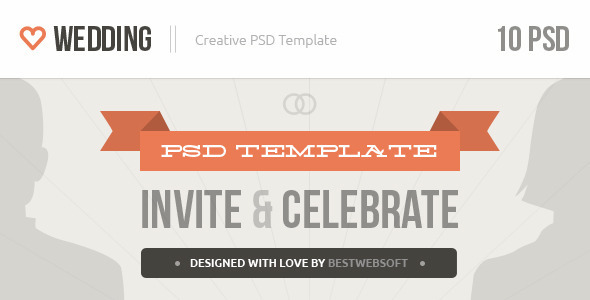 ThemeForest Wedding Creative PSD Template 4212231