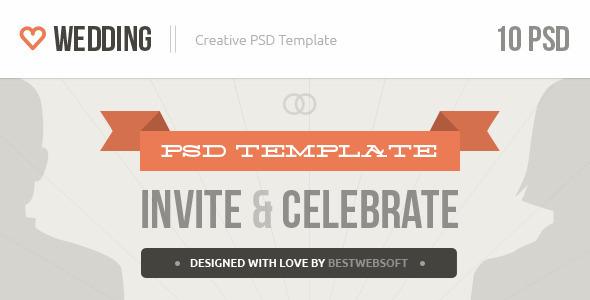 ThemeForest Wedding Creative PSD Template 4212231