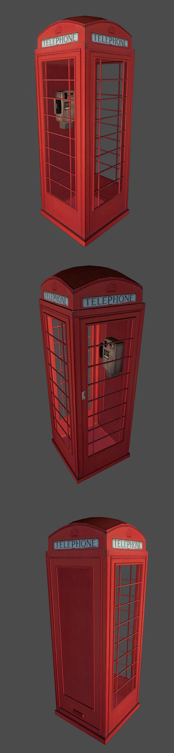 Phone Booth - 3DOcean Item for Sale