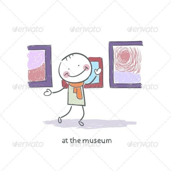 GraphicRiver Man at the Museum 4220068