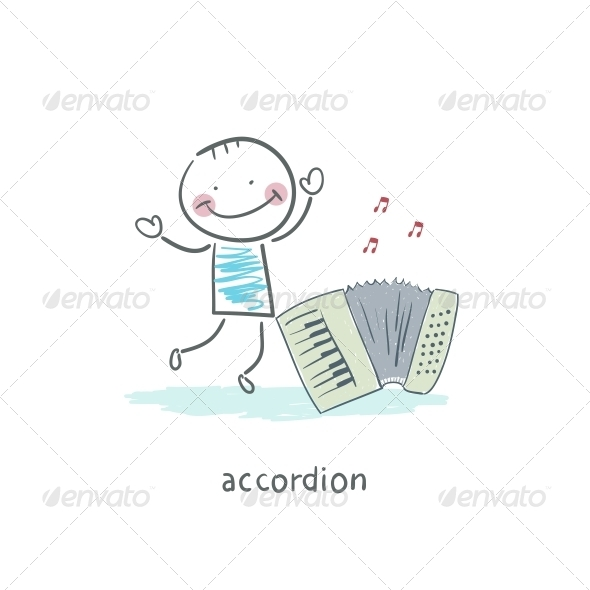 GraphicRiver Man and Accordion 4220075