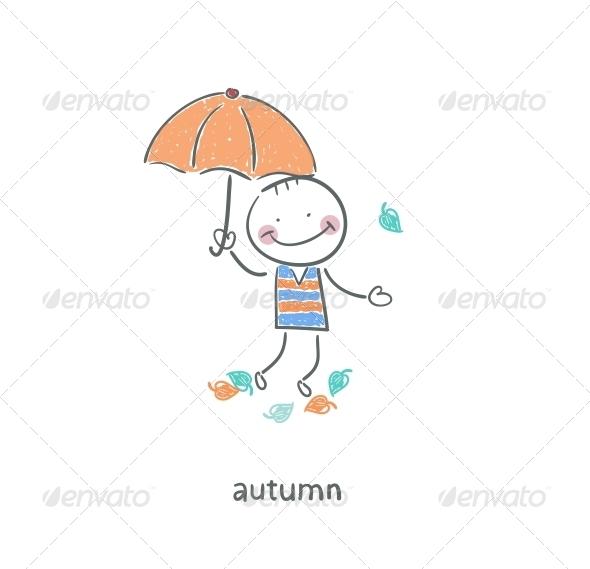 GraphicRiver A Man under an Umbrella 4220080