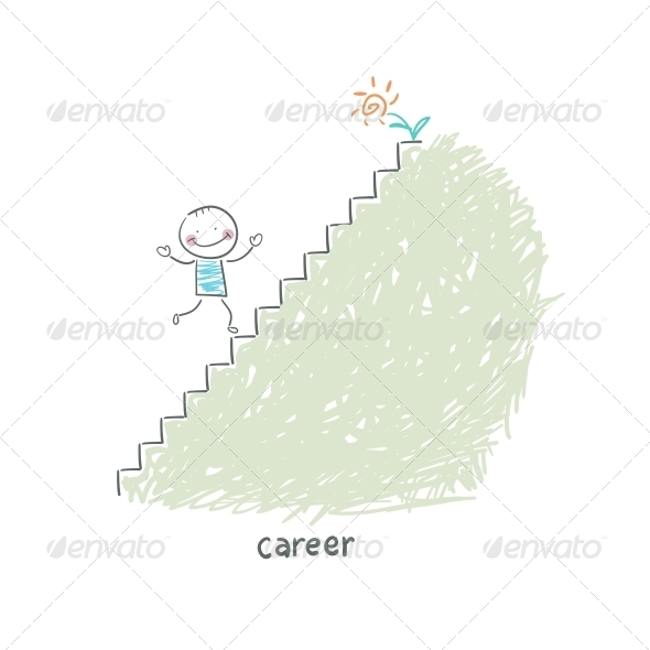 GraphicRiver Career Ladder Illustration 4220092