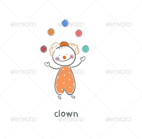 GraphicRiver Clown Illustration 4220138