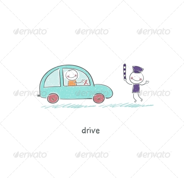 GraphicRiver The Driver and a Policeman 4220185