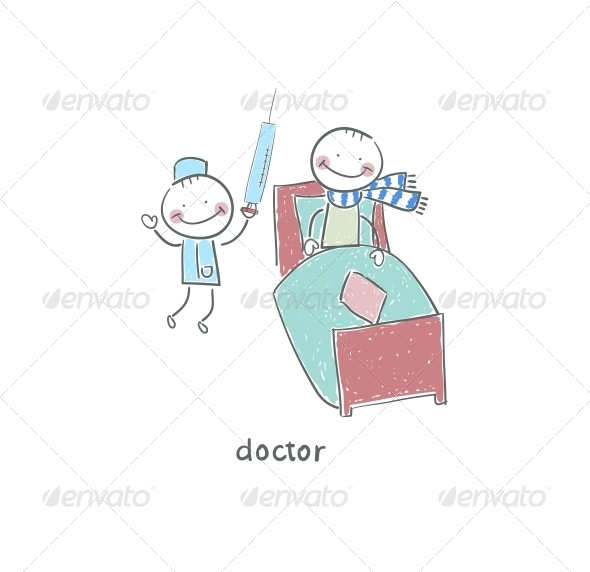 GraphicRiver Doctor and Patient Illustration 4220202