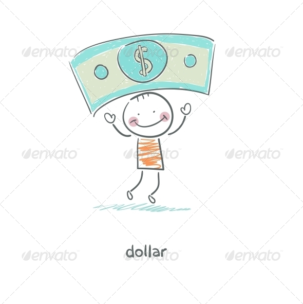 GraphicRiver Man and Money Illustration 4220203