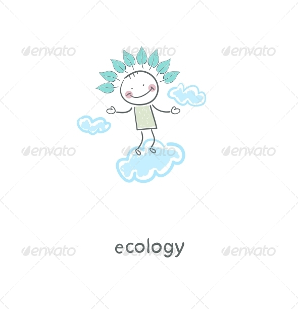 GraphicRiver Eco Man in the Sky 4220229