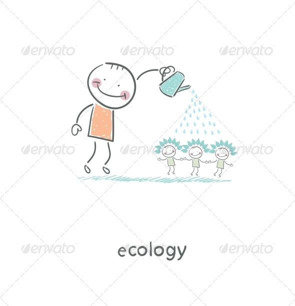 GraphicRiver Eco People Illustration 4220230