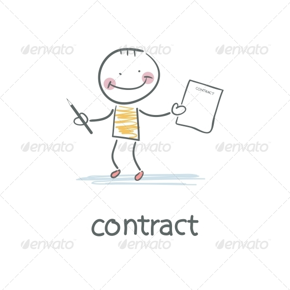GraphicRiver Person Signs the Contract Illustration 4220241
